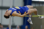 BROOKINGS, SD - FEBRUARY 25:  Zach Koosman from South Dakota State University clears the bar during the men's high jump at the 2017 Summit League Indoor Track and Field Championship Saturday afternoon in Brookings, SD. (Photo by Dave Eggen/Inertia)