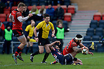 Pix: Shaun Flannery/shaunflanneryphotography.com<br /> <br /> COPYRIGHT PICTURE&gt;&gt;SHAUN FLANNERY&gt;01302-570814&gt;&gt;07778315553&gt;&gt;<br /> <br /> 23rd January 2016<br /> Doncaster Knights v Jersey RFC<br /> <br /> Jersey's Fautua Otto scores the winning try.