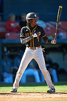 Bethune-Cookman Wildcats shortstop Demetrius Sims (7) at bat during a game against the Wisconsin-Milwaukee Panthers on February 26, 2016 at Chain of Lakes Stadium in Winter Haven, Florida.  Wisconsin-Milwaukee defeated Bethune-Cookman 11-0.  (Mike Janes/Four Seam Images)