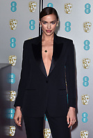 Irina Shayk<br /> The EE British Academy Film Awards 2019 held at The Royal Albert Hall, London, England, UK on February 10, 2019.<br /> CAP/PL<br /> ©Phil Loftus/Capital Pictures