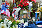 AUG. 12, 2012 - OCEANSIDE, NEW YORK U.S. - Family and friends of Lance Corporal Greg Buckley, Jr - the 21-year-old Marine from Long Island killed in Afghanistan 3 days earlier - placed these mementos of his, such as basketball trophy, on front lawn of his family home on Long Island.
