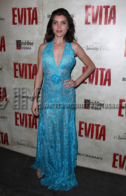 Josefina Scaglione.attending the Broadway Opening Night Performance of 'EVITA' at the Marquis Theatre in New York City on 4/5/2012 © Walter McBride / WM Photography