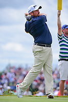 Shane Lowry (IRL) watches his tee shot on 7 during Saturday's round 3 of the 117th U.S. Open, at Erin Hills, Erin, Wisconsin. 6/17/2017.<br /> Picture: Golffile | Ken Murray<br /> <br /> <br /> All photo usage must carry mandatory copyright credit (&copy; Golffile | Ken Murray)