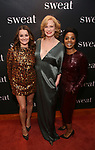 "Alison Wright, Johanna Day and Michelle Wilson attends the after party for the Broadway Opening Night of ""Sweat"" at Brasserie 8 1/2 on March 26, 2017 in New York City."