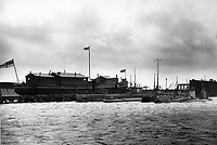 BNPS.co.uk (01202 558833)<br /> Pic Lawrences/BNPS<br /> <br /> Various British subs moored in the Firth of Forth during WW1.<br /> <br /> Fascinating early photos of submarine warfare featuring close quarters views of German battleships have come to light 100 years later.<br /> <br /> The photo albums were collated by British Commander Maurice Bailward who documented every stage of his naval career.<br /> <br /> Cmdr Bailward attended Royal Naval College in Osborne, Isle of Wight, from 1906 and 1908, the same time as Edward, the Prince of Wales.<br /> <br /> He was involved in many of the major sea battles of World War Two as well as the British effort to help the Whites during the Russian Civil War of 1919.<br /> <br /> The albums have emerged for sale at auction from a family descendant with Lawrences Auctioneers, of Crewkerne, Somerset.