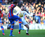 Luka Milivojevic of Crystal Palace tackled by Oliver Norwood of Sheffield Utd during the Premier League match at Selhurst Park, London. Picture date: 1st February 2020. Picture credit should read: Paul Terry/Sportimage