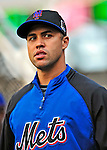 6 June 2009: New York Mets' outfielder Carlos Beltran prepares to warm up prior to a game against the Washington Nationals at Nationals Park in Washington, DC. The Mets fell to the Nationals 7-1 as Nats' starting pitcher John Lannan tossed his first career complete-game win. Mandatory Credit: Ed Wolfstein Photo