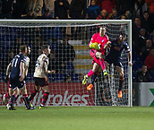 2nd December 2017, Global Energy Stadium, Dingwall, Scotland; Scottish Premiership football, Ross County versus Dundee; Dundee goalkeeper Elliott Parish gathers the ball under pressure from Ross County's Ross Draper