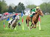 Decoy Daddy and Darren Nagle lead Dictina's Boy turning for home in Gwathmey.