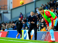 Blackburn Rovers manager Tony Mowbray returns the ball to one of his players<br /> <br /> Photographer Alex Dodd/CameraSport<br /> <br /> The EFL Sky Bet Championship - Blackburn Rovers v Rotherham United - Saturday 10th November 2018 - Ewood Park - Blackburn<br /> <br /> World Copyright &copy; 2018 CameraSport. All rights reserved. 43 Linden Ave. Countesthorpe. Leicester. England. LE8 5PG - Tel: +44 (0) 116 277 4147 - admin@camerasport.com - www.camerasport.com