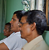 Ram Kumar Bhandari, center, offers advice to families of victims of Nepal's armed conflict (1996-2006) in Nawalparasi district.  The families formed a committee entitled PGID (Pressure Group for Information about the Disappeared) Nawalparasi.  This committee will be part of a larger regional committee that will represent families from 11 districts of Western Nepal. A meeting to form a local level committee of families of disappeared people, Nawalparasi Nepal