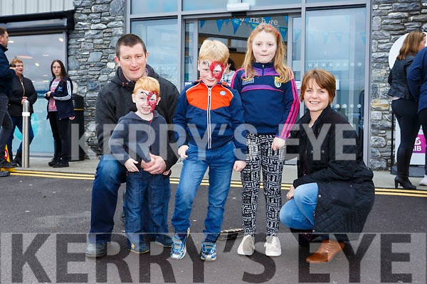 Enjoying Horgans Centra Ardfert Family Fun day on Sunday were Robert, Breeda, Aiobhinn, Donagh and Emaon Flaherty
