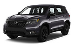 2019 Honda Passport Sport 5 Door SUV Angular Front automotive stock photos of front three quarter view