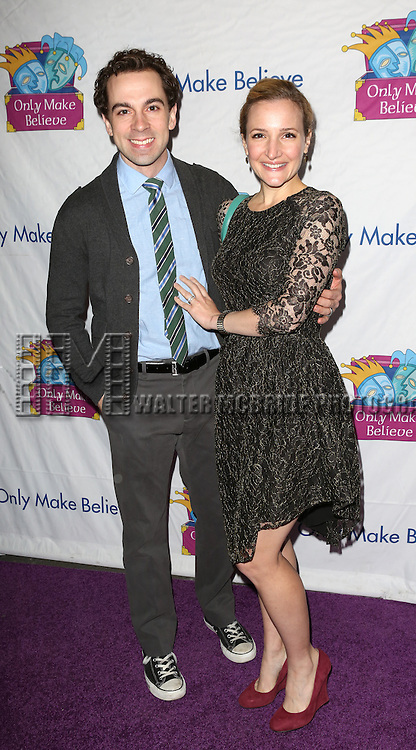 Rob McClure and wife attend the 14th Annual 'Only Make Believe' Gala at the Bernard B. Jacobs Theatre on November 4, 2013  in New York City.