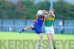Ballymac's Eoin Surgue and Moyvane's Donal Leahy.