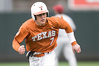 Jordan Etier of the Texas Lonhorns against the Stanford Cardinal at  UFCU Disch-Falk Field in Austin, Texas on Friday February 26th, 2100.  (Photo by Andrew Woolley / Four Seam Images)