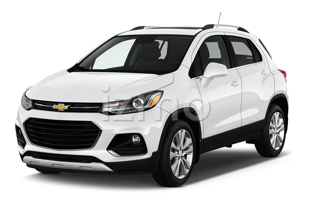 2020 Chevrolet Trax Premier 5 Door SUV angular front stock photos of front three quarter view