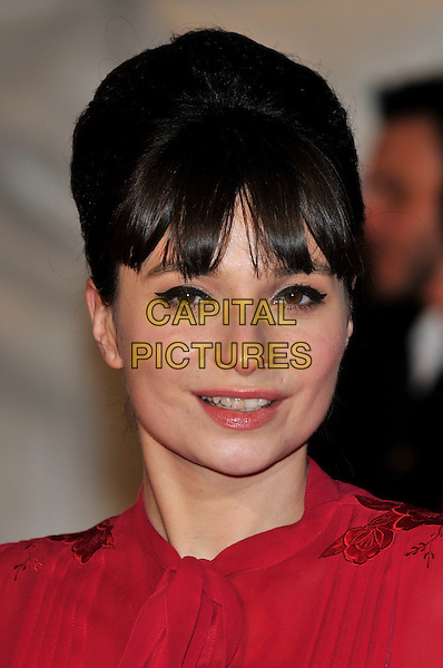 "GIZZI ERSKINE .Attending the ""Invictus'"" UK Film Premiere at the Odeon West End cinema, Leicester Square, London, England, January 31st, 2010..arrivals portrait headshot red hair up fringe eyeliner make-up .CAP/PL.©Phil Loftus/Capital Pictures"
