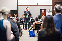 "Rabbi Joshua Stanton of East End Temple in New York, New York, speaks at a ""Learning Session"" titled ""Jewish Millennial Leadership and Engagement: Empowering a Generation"" at the Union for Reform Judaism Biennial 2017 in the Hynes Convention Center in Boston, Mass., USA, on Wed., Dec. 6, 2017."