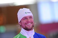 SCHAATSEN: BERLIJN: Sportforum, 07-12-2013, Essent ISU World Cup, podium 1000m Men Division A, Michel Mulder (NED), ©foto Martin de Jong