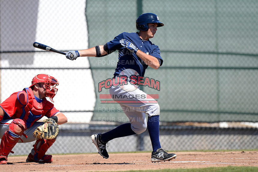 New York Yankees first baseman Greg Bird #38 during a minor league Spring Training game against the Philadelphia Phillies at Carpenter Complex on March 21, 2013 in Clearwater, Florida.  (Mike Janes/Four Seam Images)