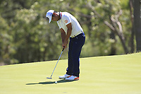 Hideto Tanihara (JPN) in action on the 9th during Round 1 of the ISPS Handa World Super 6 Perth at Lake Karrinyup Country Club on the Thursday 8th February 2018.<br /> Picture:  Thos Caffrey / www.golffile.ie<br /> <br /> All photo usage must carry mandatory copyright credit (&copy; Golffile | Thos Caffrey)