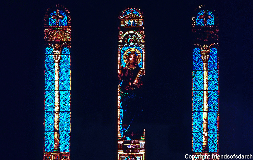 H. H. Richardson: Trinity Church--Christ preaching--John La Farge 1883. Stained Glass.