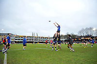 The Bath Rugby forwards practise their lineout during the pre-match warm-up. Aviva Premiership match, between Bath Rugby and Wasps on February 20, 2016 at the Recreation Ground in Bath, England. Photo by: Patrick Khachfe / Onside Images