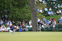 Trevor Immelman (RSA) on the 15th green during the 2nd round at the The Masters , Augusta National, Augusta, Georgia, USA. 12/04/2019.<br /> Picture Fran Caffrey / Golffile.ie<br /> <br /> All photo usage must carry mandatory copyright credit (© Golffile | Fran Caffrey)