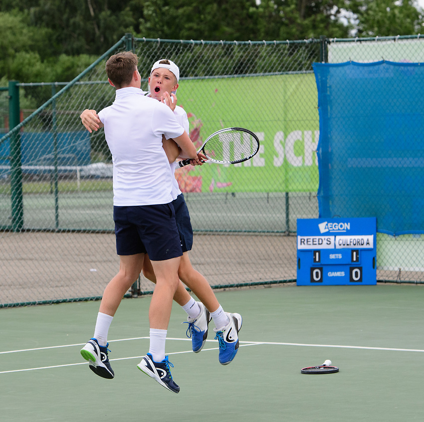 Glanville Cup - Culford School A [1] <br /> <br /> Team Tennis Schools National Championships Finals 2017 held at Nottingham Tennis Centre.  <br /> <br /> Picture: Chris Vaughan Photography for the LTA<br /> Date: July 14, 2017