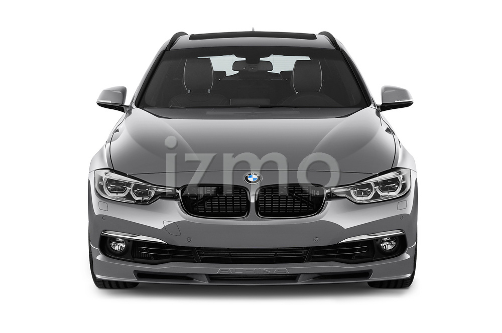 Car photography straight front view of a 2018 Alpina B3 S Touring Base 5 Door Wagon