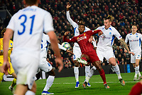 LIVERPOOL, GREAT BRITAN - NOVEMBER 5 :  Georginio Wijnaldum midfielder of Liverpool scores the opening goal during the UEFA Champions League match between Liverpool FC and KRC Genk on November 05, 2019 in Liverpool, Great Britan, 5/11/2019 <br /> Liverpool 5-11-2019 Anfield <br /> Liverpool - Genk <br /> Champions League 2019/2020<br /> Foto Photonews / Panoramic / Insidefoto <br /> Italy Only