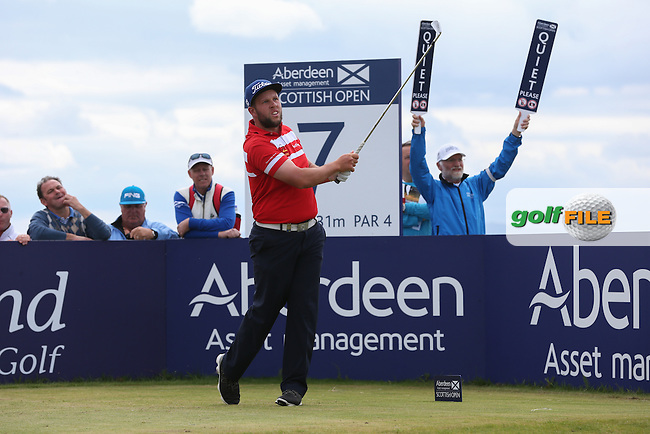 Andrew Johnston (ENG) during Round Three of the 2015 Aberdeen Asset Management Scottish Open, played at Gullane Golf Club, Gullane, East Lothian, Scotland. /11/07/2015/. Picture: Golffile | David Lloyd<br /> <br /> All photos usage must carry mandatory copyright credit (&copy; Golffile | David Lloyd)