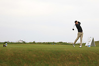 Jack Walsh (Castle) on the 1st tee during Round 1of the Flogas Irish Amateur Open Championship 2019 at the Co.Sligo Golf Club, Rosses Point, Sligo, Ireland. 16/05/19<br /> <br /> Picture: Thos Caffrey / Golffile<br /> <br /> All photos usage must carry mandatory copyright credit (© Golffile | Thos Caffrey)