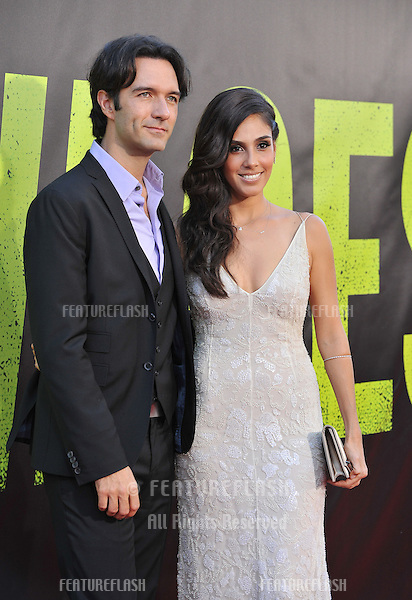 "Sandra Echeverria & date at the world premiere of her movie ""Savages"" at Mann Village Theatre, Westwood..June 26, 2012  Los Angeles, CA.Picture: Paul Smith / Featureflash"