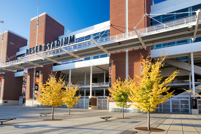 Reser Statium with fall color.Oregon State University.