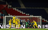 11th March 2020, Parc des Princes, Paris, France; Champions League - Round of 16 Second Leg - Paris St Germain versus Borussia Dortmund;  Paris St Germains Angel Di Maria takes a free-kick on goal