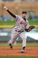 Starting pitcher JonMichael Redding #21 of the Great Lakes Loons in action versus the Dayton Dragons at Fifth Third Field April 21, 2009 in Dayton, Ohio. (Photo by Brian Westerholt / Four Seam Images)