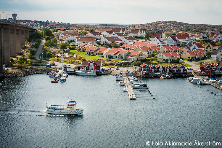 The picturesque fishing village of Smögen in West Sweden.
