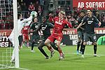 08.11.2019, RheinEnergieStadion, Koeln, GER, 1. FBL, 1.FC Koeln vs. TSG 1899 Hoffenheim,<br />  <br /> DFL regulations prohibit any use of photographs as image sequences and/or quasi-video<br /> <br /> im Bild / picture shows: <br /> Torchance fuer Sebastiaan Bornauw (FC Koeln #33),  gegen Oliver Baumann Torwart (Hoffenheim #1), <br /> <br /> Foto © nordphoto / Meuter