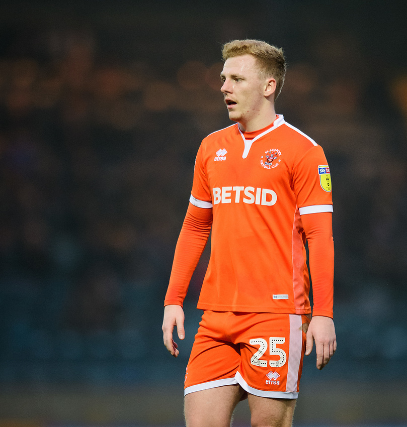 Blackpool's Callum Guy<br /> <br /> Photographer Chris Vaughan/CameraSport<br /> <br /> The EFL Sky Bet League One - Rochdale v Blackpool - Wednesday 26th December 2018 - Spotland Stadium - Rochdale<br /> <br /> World Copyright © 2018 CameraSport. All rights reserved. 43 Linden Ave. Countesthorpe. Leicester. England. LE8 5PG - Tel: +44 (0) 116 277 4147 - admin@camerasport.com - www.camerasport.com