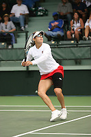 23 May 2006: Anne Yelsey during Stanford's 4-1 win over the Miami Hurricanes in the 2006 NCAA Division 1 Women's Tennis Team Championships at the Taube Family Tennis Stadium in Stanford, CA.