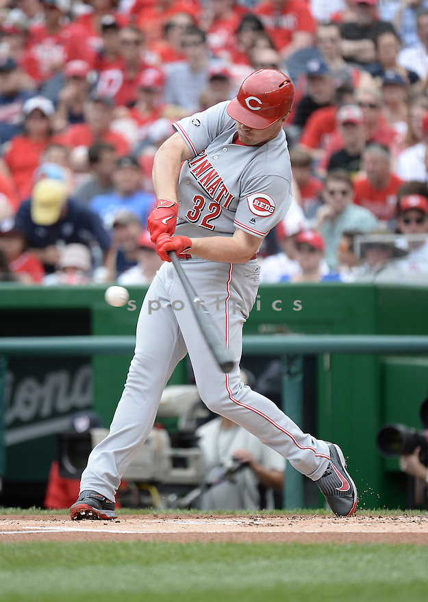 Cincinnati Reds Jay Bruce (32) during a game against the Washington Nationals on July 3, 2016 at Nationals Park in Washington DC. The Nationals beat the Reds 12-1.