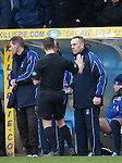 Kenny Shiels sent to the stand by ref Stevie O'Reilly