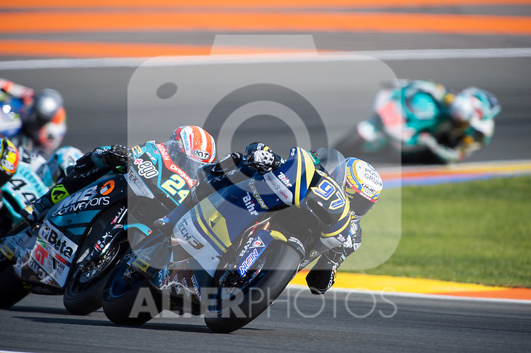 VALENCIA, SPAIN - NOVEMBER 11: Xavi Vierge during Valencia MotoGP 2016 at Ricardo Tormo Circuit on November 11, 2016 in Valencia, Spain