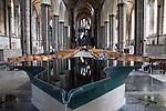 Font by William Pye in Salisbury Cathedral Church in Salisbury; England; UK