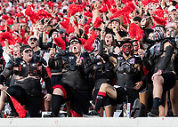 ATHENS, GA - SEPTEMBER 21: UGA Spike Squad during a game between Notre Dame Fighting Irish and University of Georgia Bulldogs at Sanford Stadium on September 21, 2019 in Athens, Georgia.