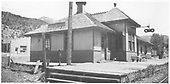 3/4 view from the north of the RGS Placerville depot.<br /> RGS  Placerville, CO  Taken by Arend, Lad G. - 1945