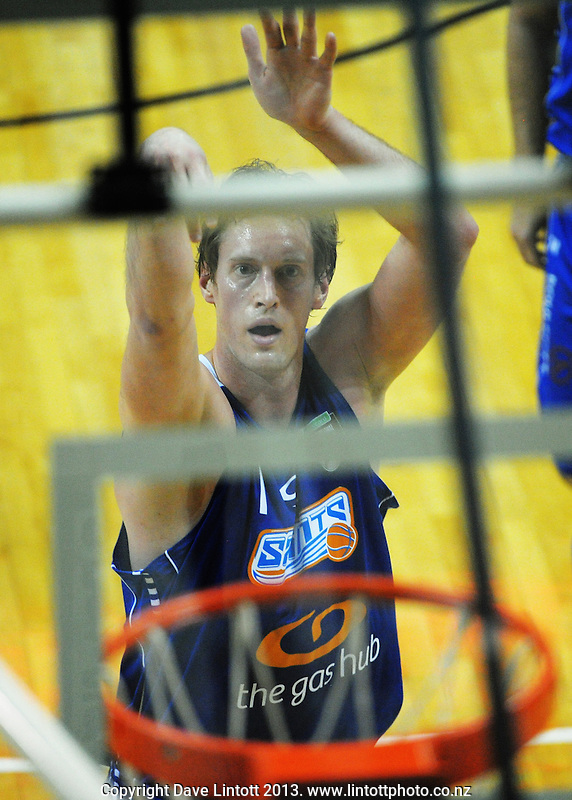 Rick Rickert in action during the national basketball league match between Wellington Saints and Southland Sharks at the TSB Bank Arena, Wellington, New Zealand on Friday, 5 July 2013. Photo: Dave Lintott / lintottphoto.co.nz