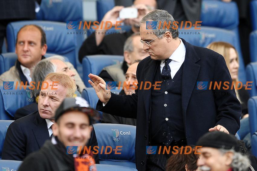 """Claudio Lotito Presidente della Lazio.Roma 4/3/2012 Stadio """"Olimpico"""".Football Calcio 2011/2012 Serie A.Roma Vs Lazio.Foto Insidefoto Andrea Staccioli"""